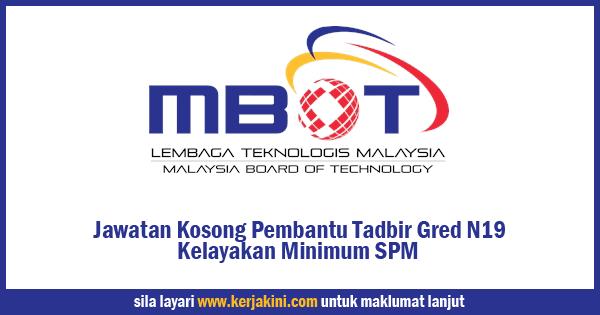 Jawatan Kosong Lembaga Teknologis Malaysia