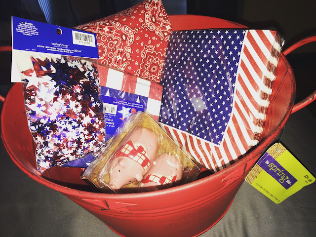 Does anyone really need all this stuff for one Fourth Of July Craft? What do you think she does with it?