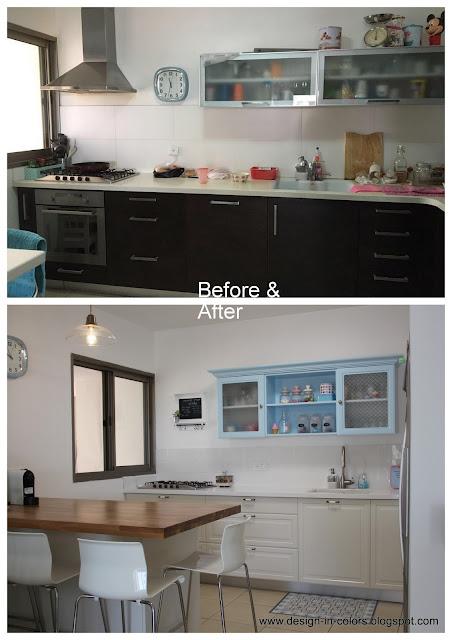 עיצוב מטבח - לפני ואחרי