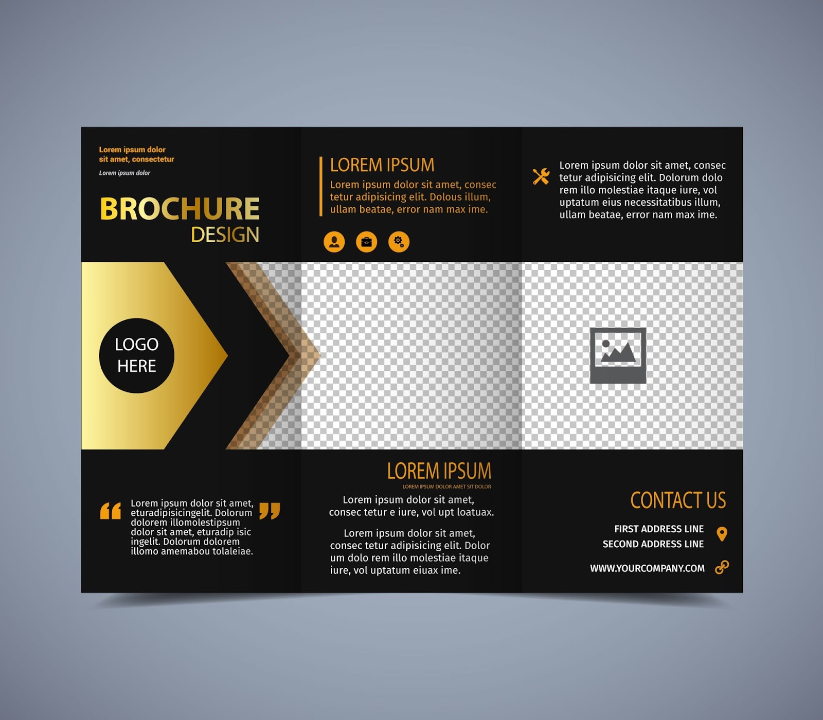 Free vector brochure design guru corel for Online brochure design