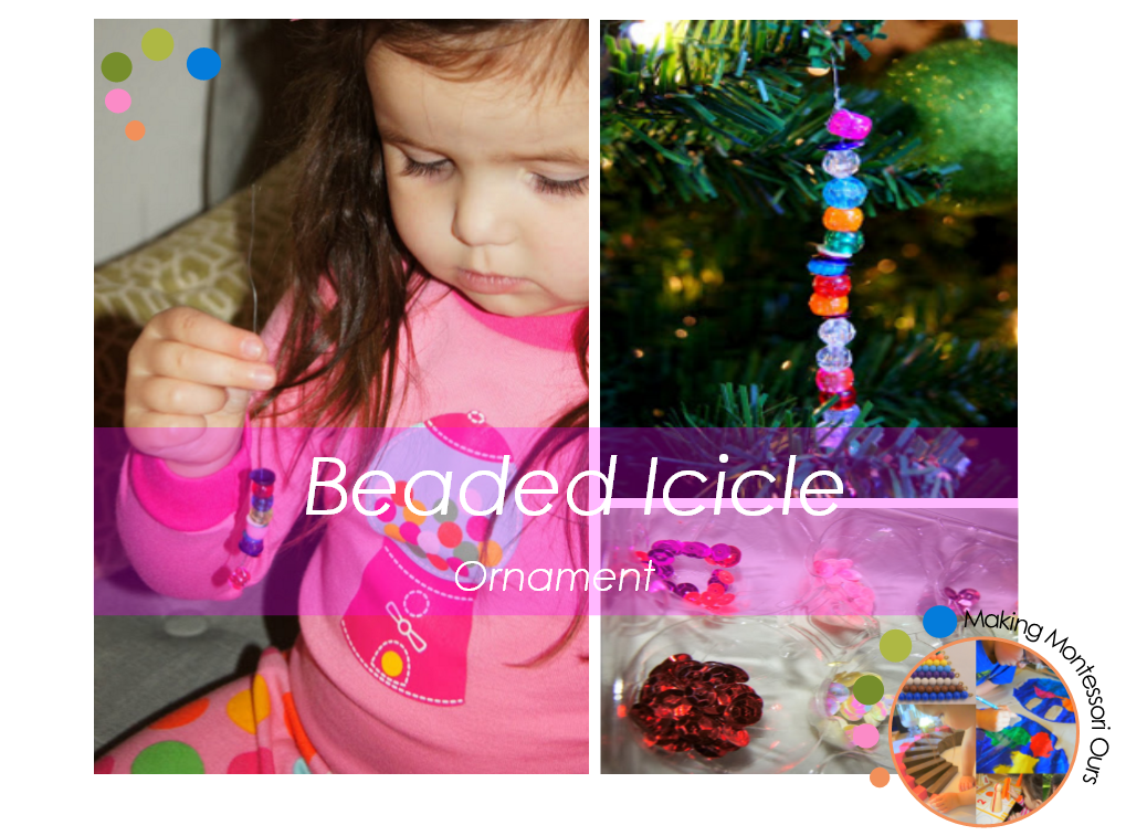 Icicle For Christmas Trees.Kids Diy Beaded Icicle Christmas Tree Ornaments Making