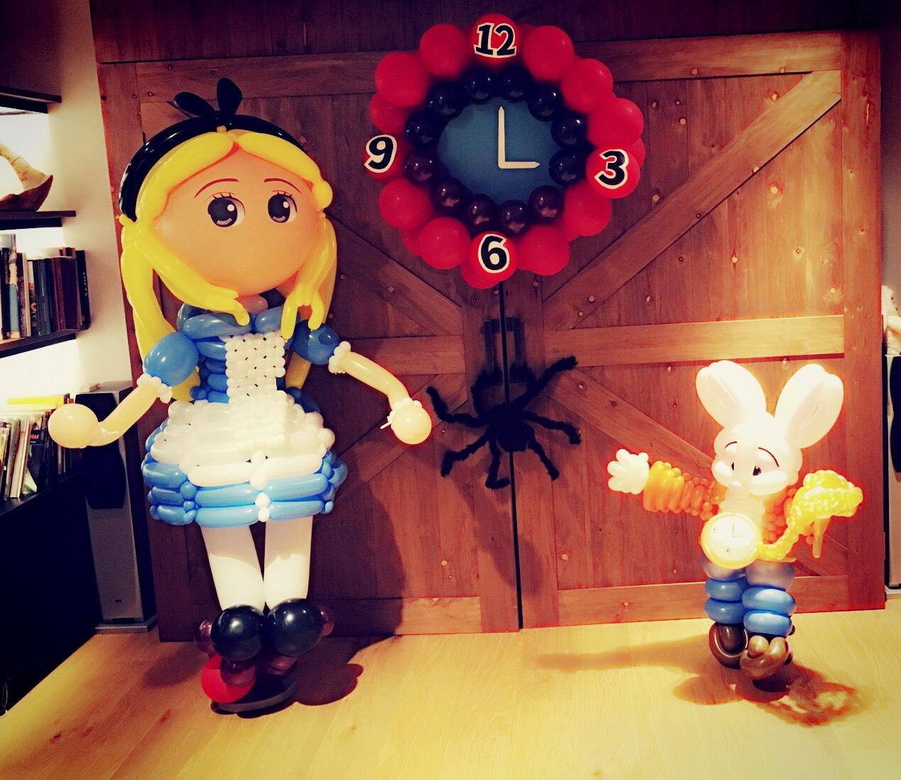 氣球愛麗絲夢遊仙境佈置