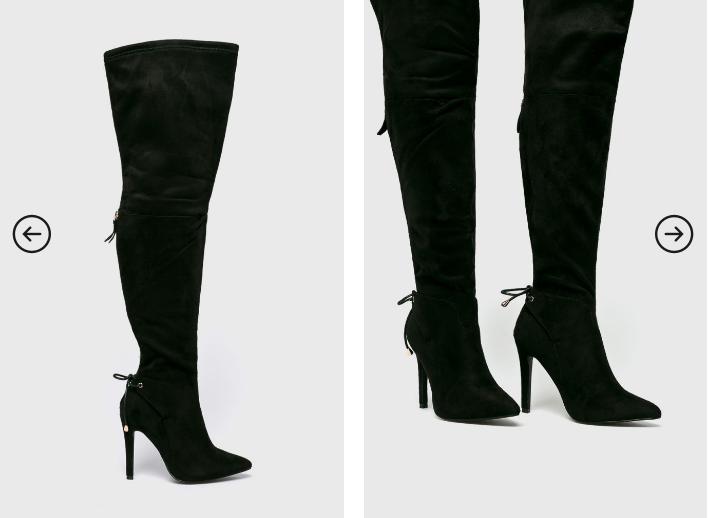 Cizme elegante lungi negre foarte ieftine cu toc inalt frumoase