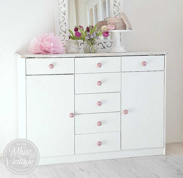 shabby chic kommode selber machen white and vintage. Black Bedroom Furniture Sets. Home Design Ideas