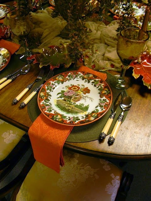 An Autumn Tablescape Royal Doulton Pomeroy In Sage Green