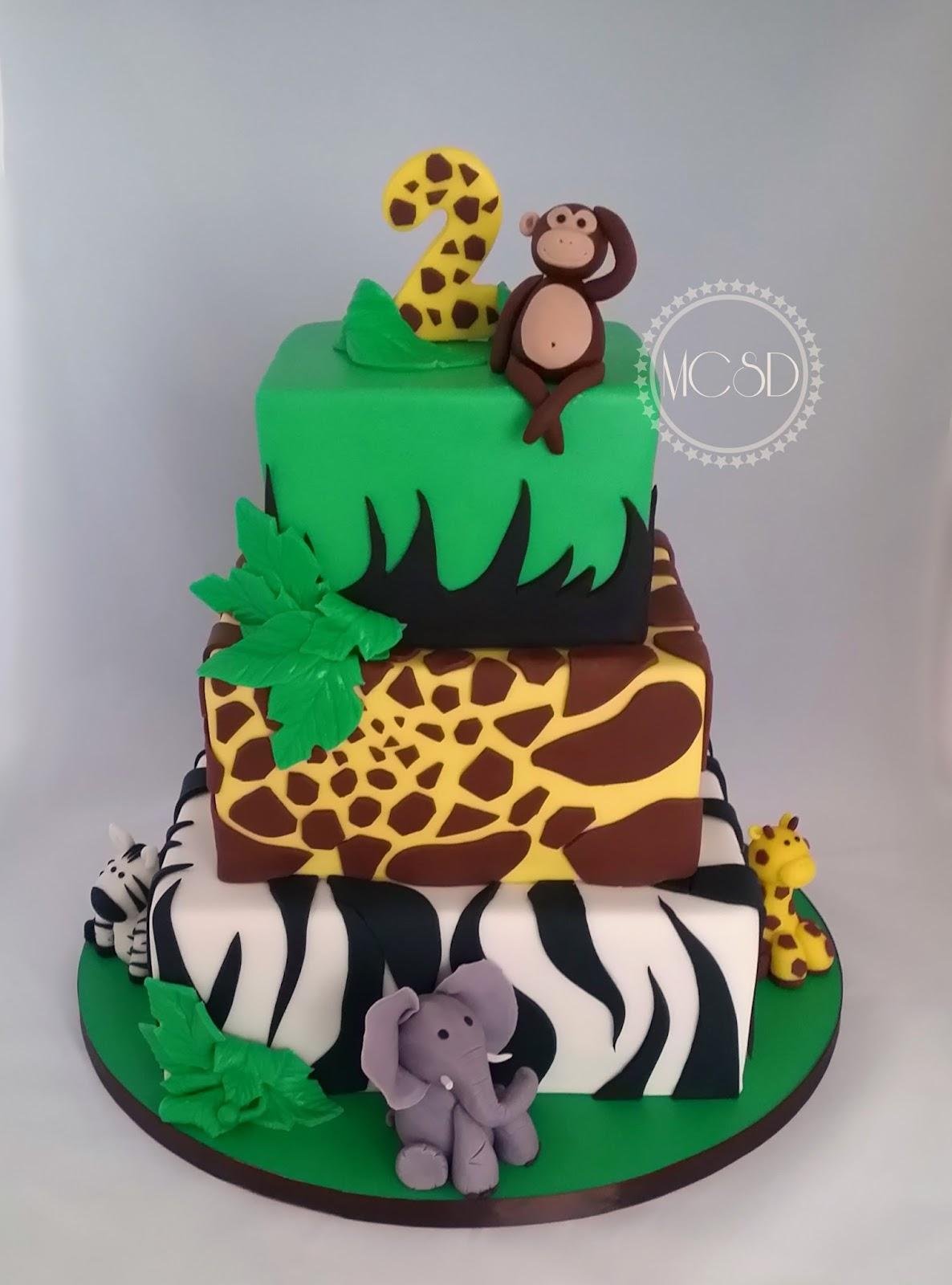 Groovy Cakesbyzana Safari Jungle Birthday Cake Personalised Birthday Cards Bromeletsinfo