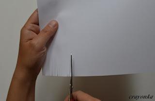 nacinanie kartki papieru