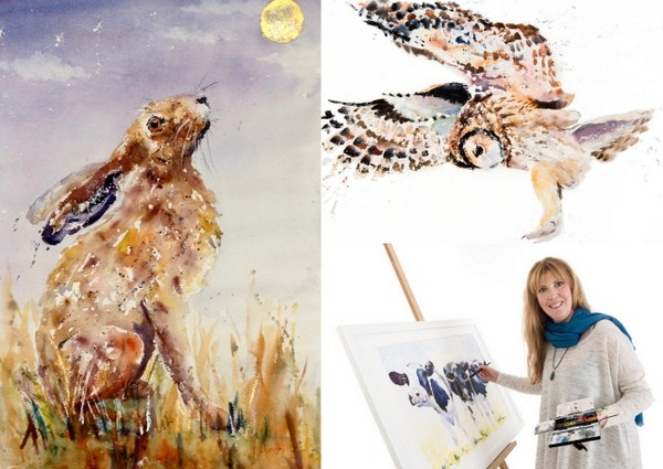 Karen Thomas Watercolour  Animal Paintings and Nature Inspired Art