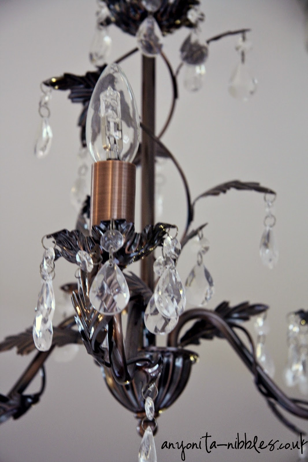 Ornate crystal chandelier detail at Ox Pasture Hall Hotel | Anyonita-nibbles.co.uk