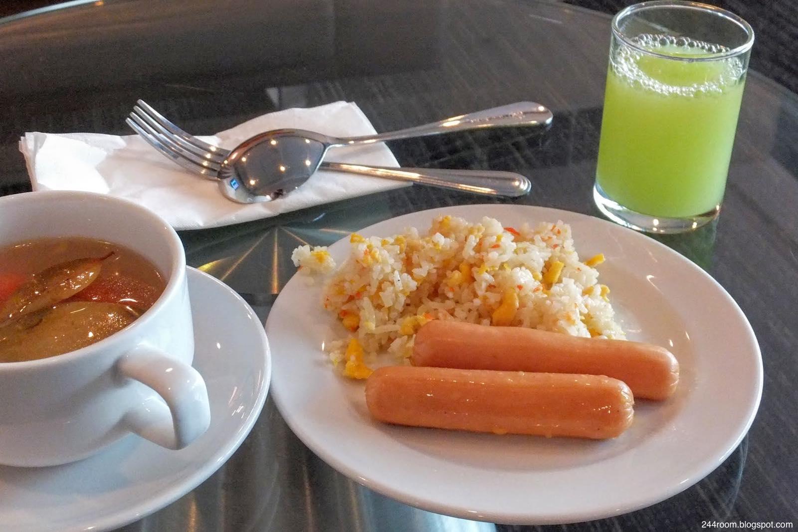 スワンナプームCIPラウンジF-食事-meal