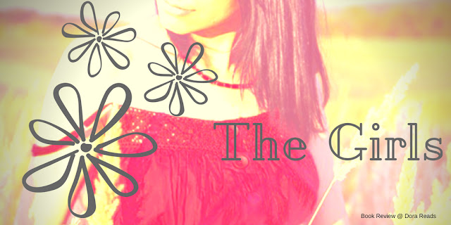 The Girls title image with girl standing in a field with flowers overlaid