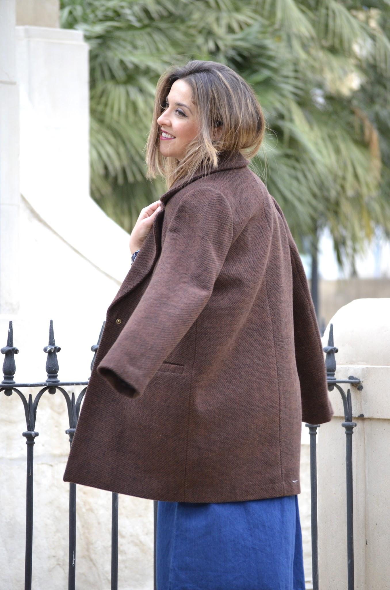 brown oversize coat primark
