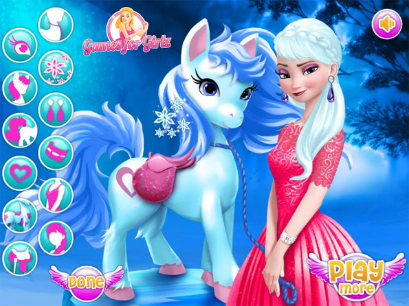 Elsa et son poney