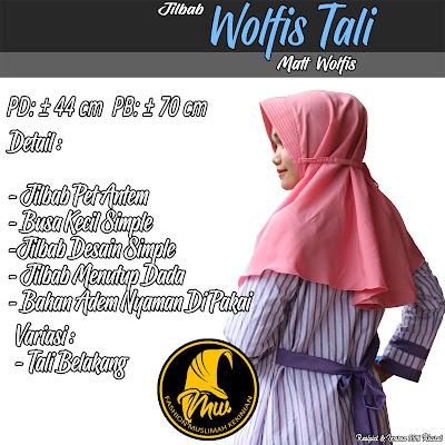 Jilbab Wolfis Desain Simple Bahan Adem Nyaman Di Pakai