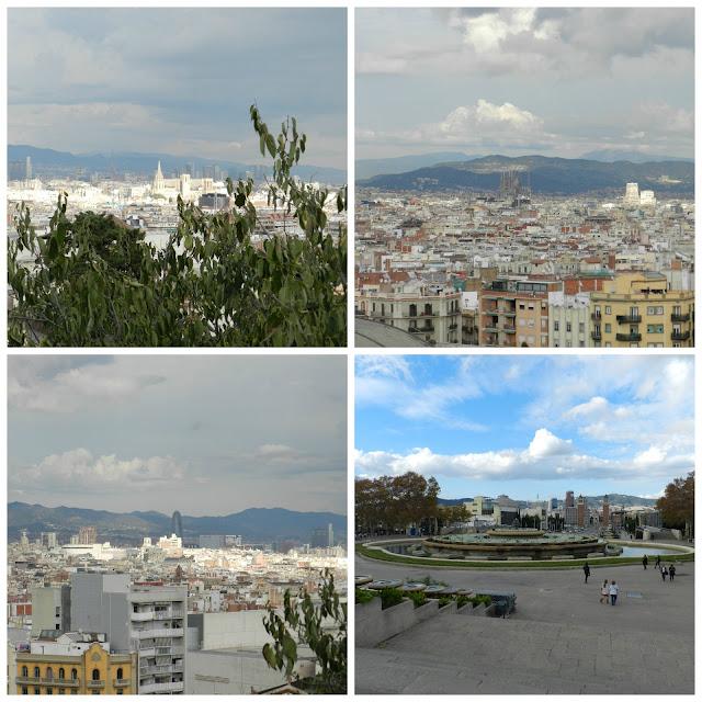Barcelona vista do MNAC (Museu Nacional d´Art de Catalunya)
