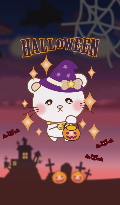 Panda cat, Pan'nya and halloween theme2