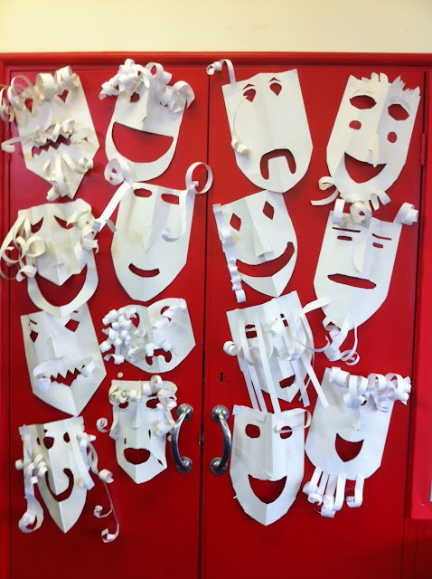 The empty oxo box greek theatre masks for Ancient greek mask template