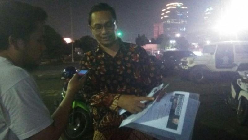 Perwakilan dari BTP Network Jack Lapian melaporkan Ahmad Dhani