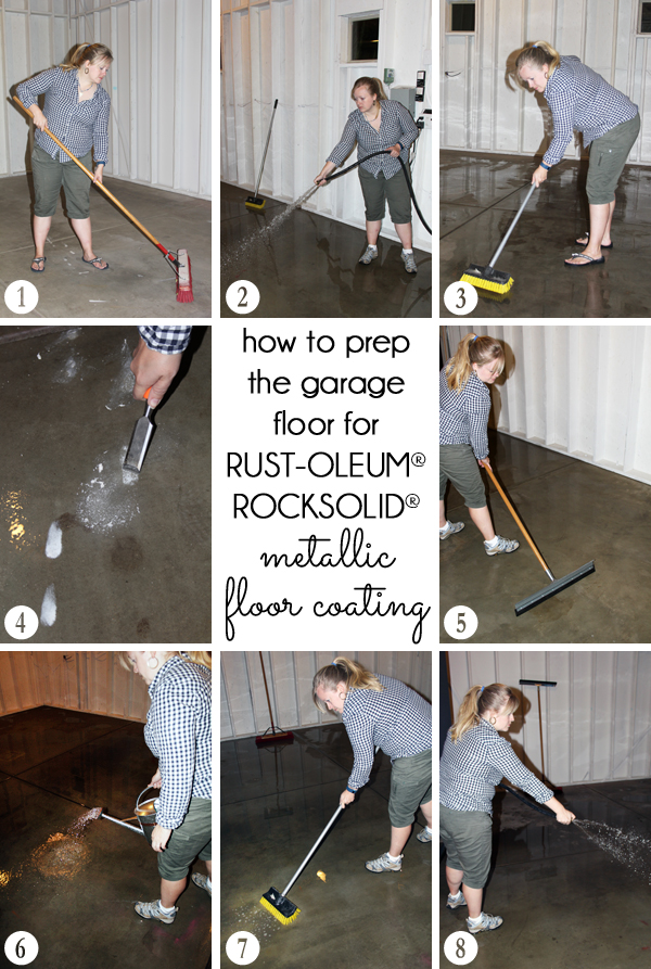 How to prep garage floor before refinishing