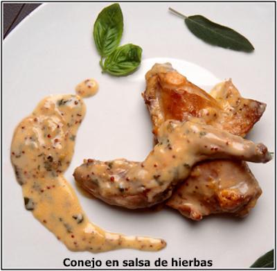 Conejo En Salsa De Hierbas