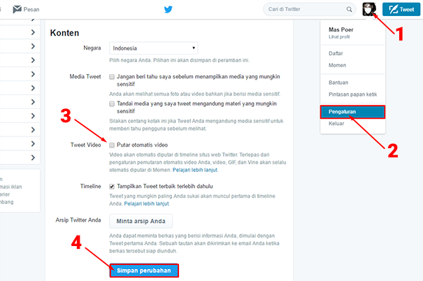 Cara Agar Video Twitter Tidak Berputar Secara Otomatis 3