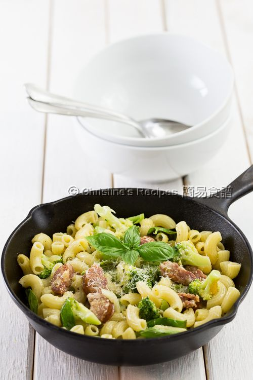 西班牙腸西蘭花芝士通粉 Broccoli, Chorizo and Cheese Macaroni03