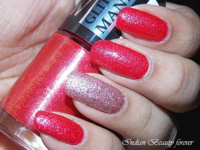 Maybelline Color Show Glitter Mania in Red Carpet review swatches India price