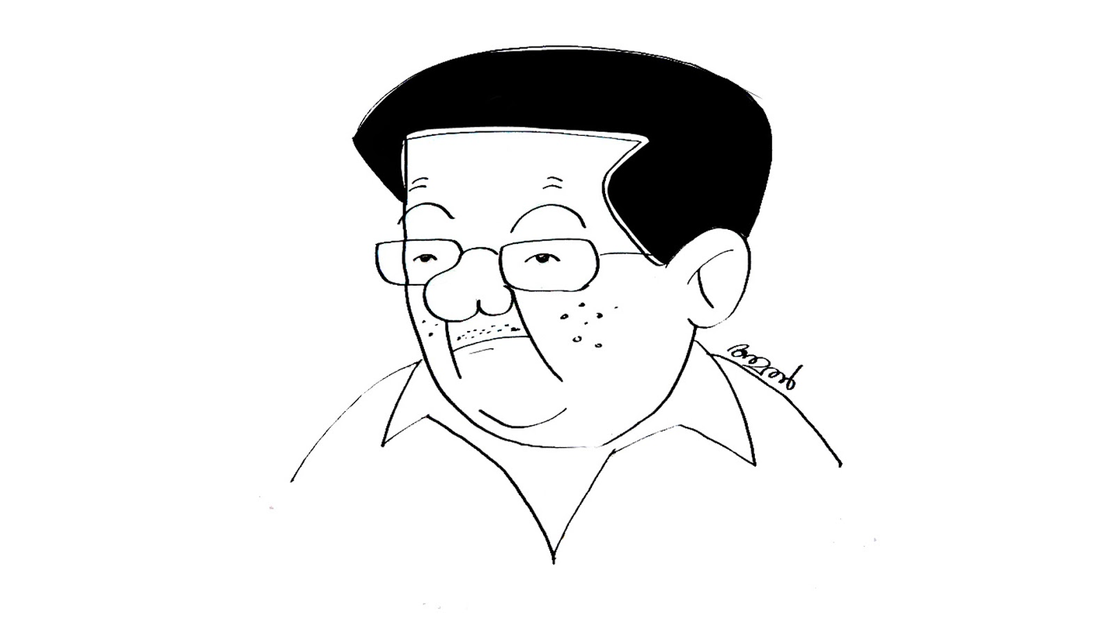 Cartoons By Amal: How To Draw Pinarayi Vijayan Cartoon
