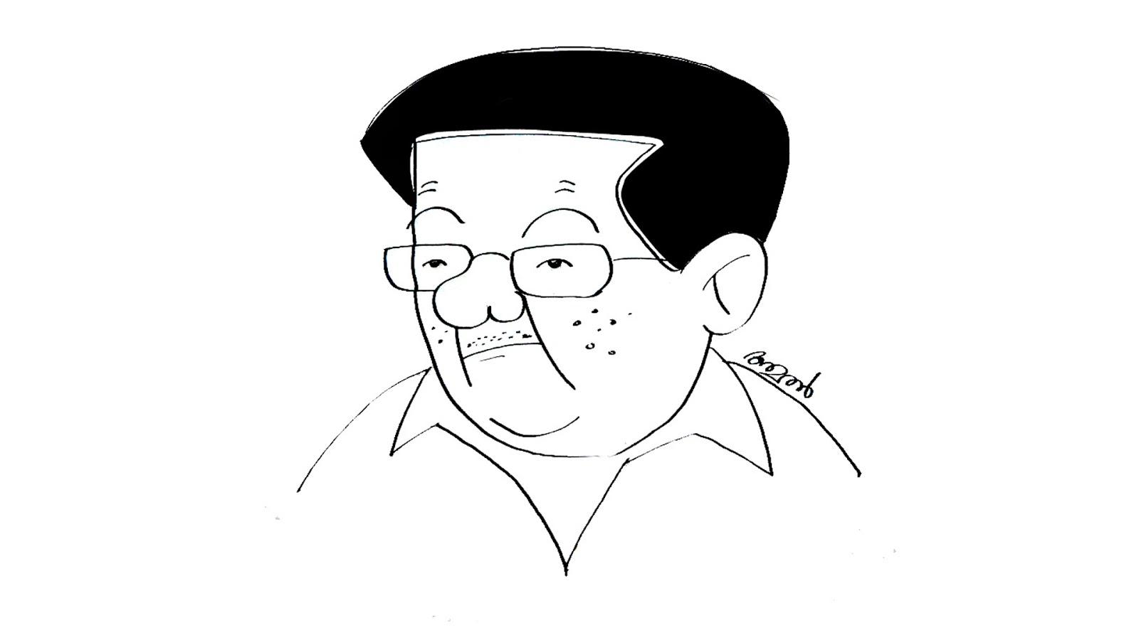 Cartoons By Amal: How to draw Pinarayi Vijayan Cartoon