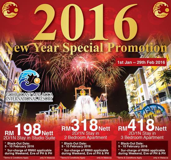 Harga pakej penginapan Gold Coast Melaka