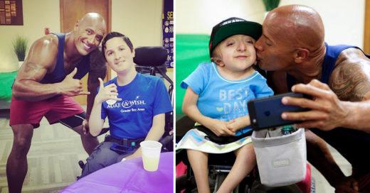 The Rock visita a niños fans con necesidades especiales