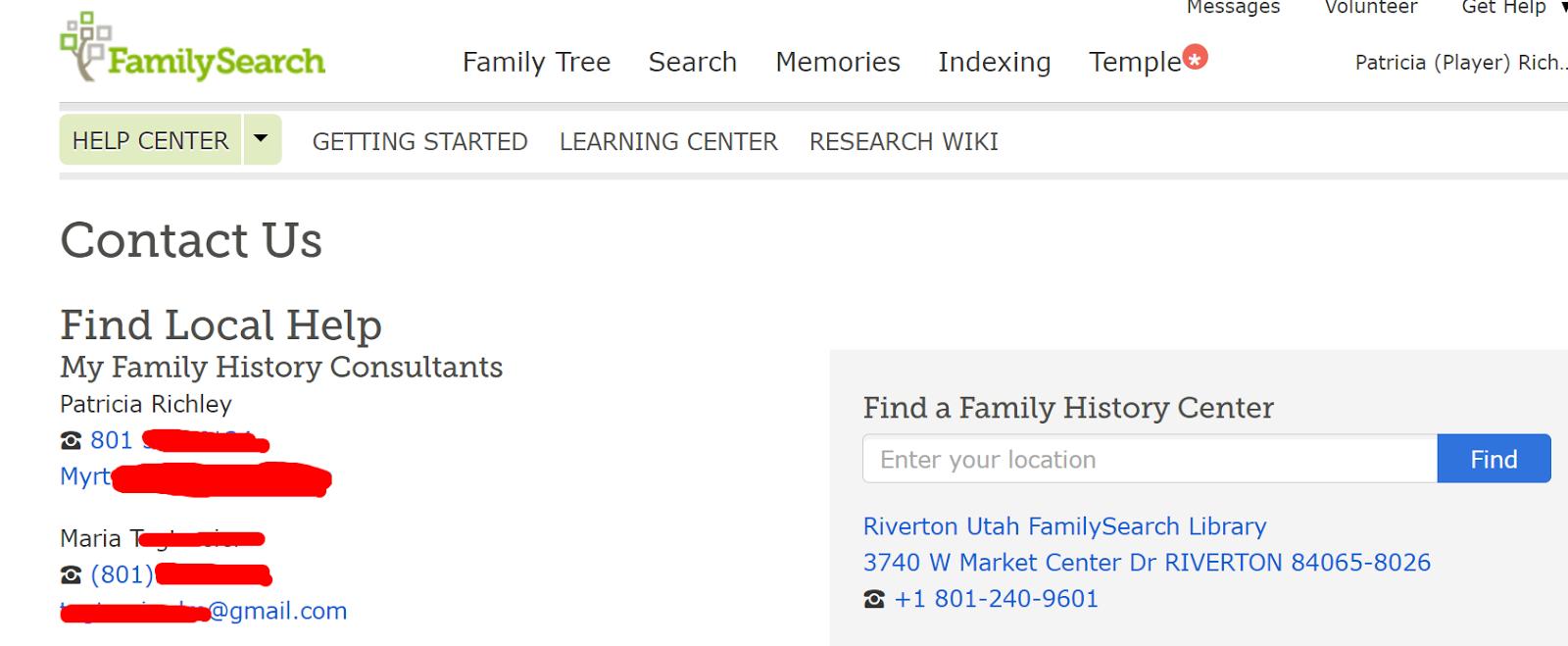 DearMYRTLE's Genealogy Blog: FamilySearch personal info