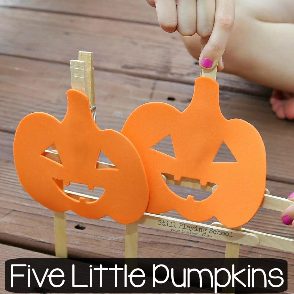 Five Little Pumpkins Game