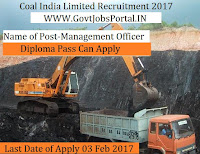 Coal India Limited Recruitment 2017 – 1319 Management Trainees Officer post