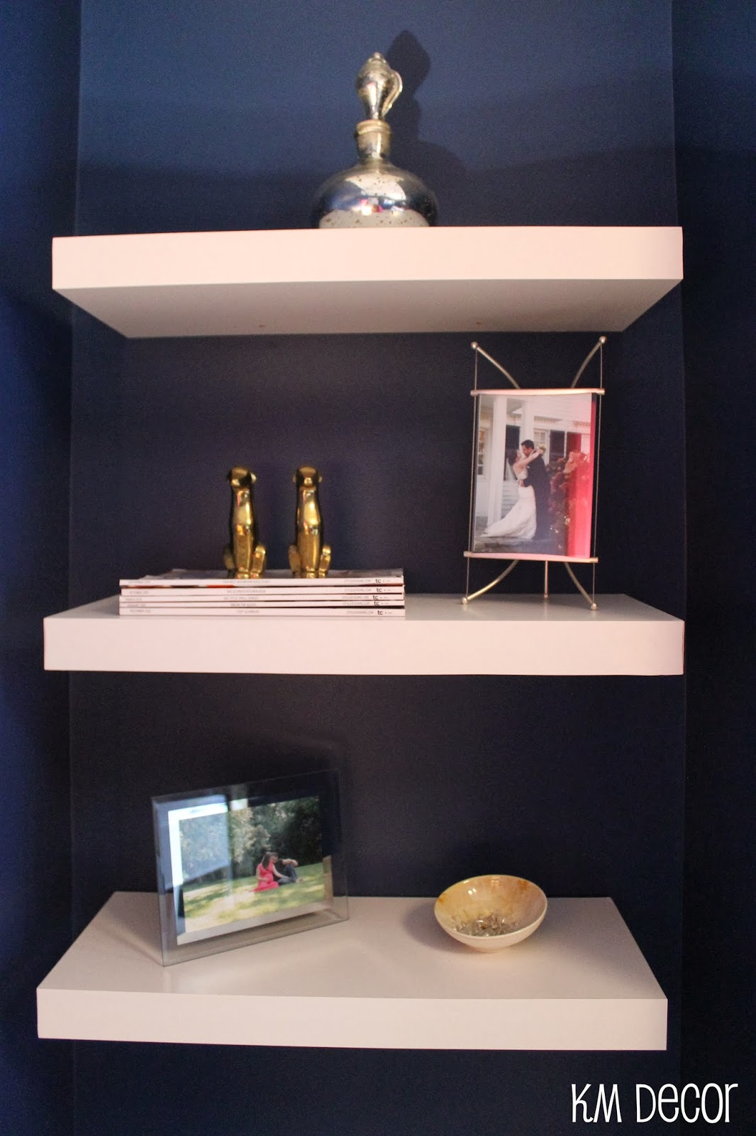 KM Decor: Floating Office Shelves
