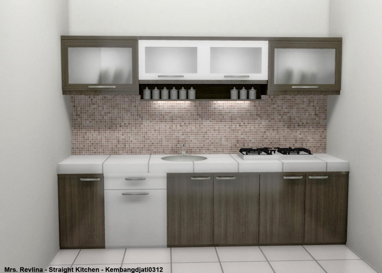Kombinasi warna keramik dinding dapur best attractive home for Harga kitchen set aluminium minimalis
