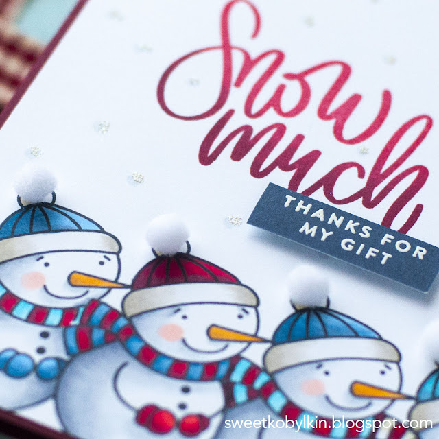 Winter Thank You Card with Masking