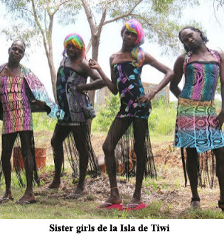 Sister girls de la Isla de Tiwi