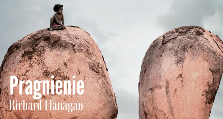 Fragment okładki; aborygeńska dziewczynka siedząca na gigantycznym głazie