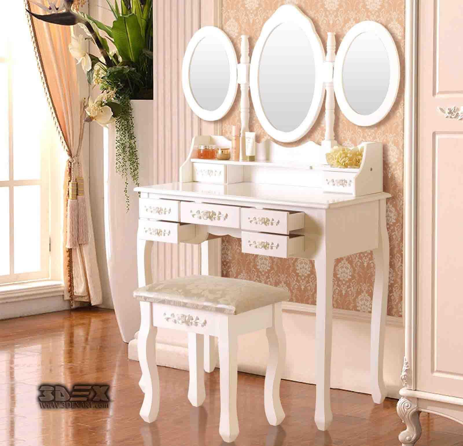 Lovely girl 39 s dressing table design ideas for kid 39 s bedroom for Bedroom dressing table designs