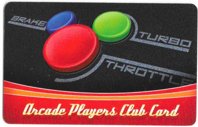 Disney Arcade Players Club Card Hotel Brake Turbo