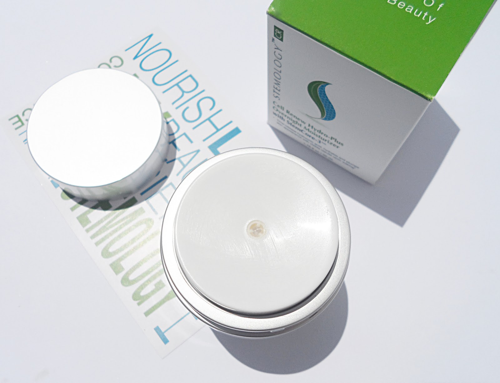 Stemology Cell Renew Hydro - Plus Overnight Moisturizer stemology skin care products review blogger liz breygel anti aging face cream gel