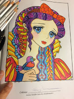 Anime Doodle Girls Coloring Book