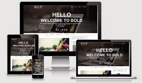 Bold Modern Parallax Blogger Template Responsive Image