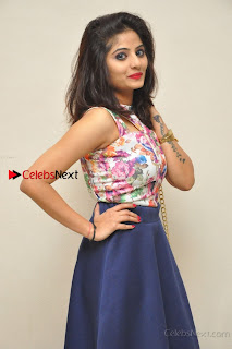 Kannada Actress Mahi Rajput Pos in Floral Printed Blouse at Premam Short Film Preview Press Meet  0013.jpg