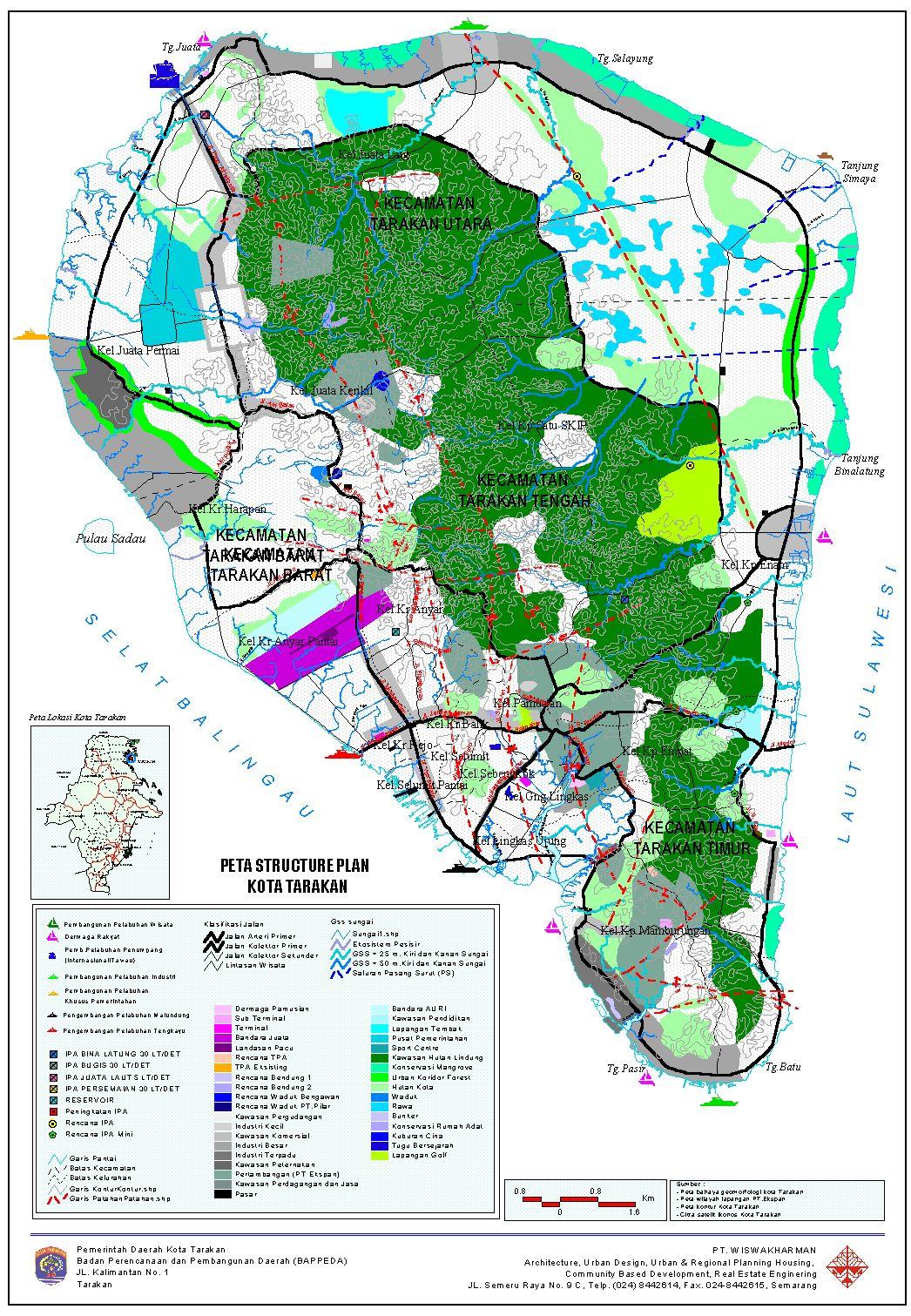 AMAZING INDONESIA: TARAKAN CITY / ISLAND MAP