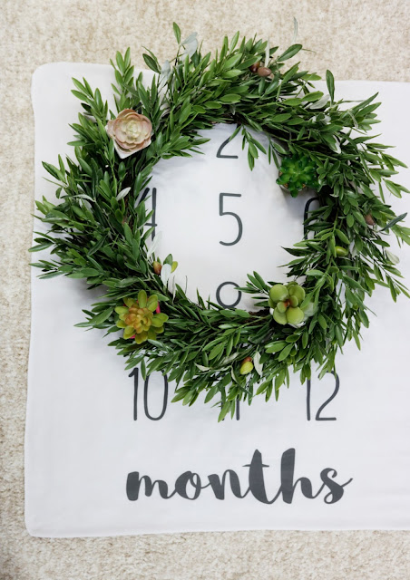 spring flower garland baby monthly milestone blanket month to month marker ideas inspo inspiration
