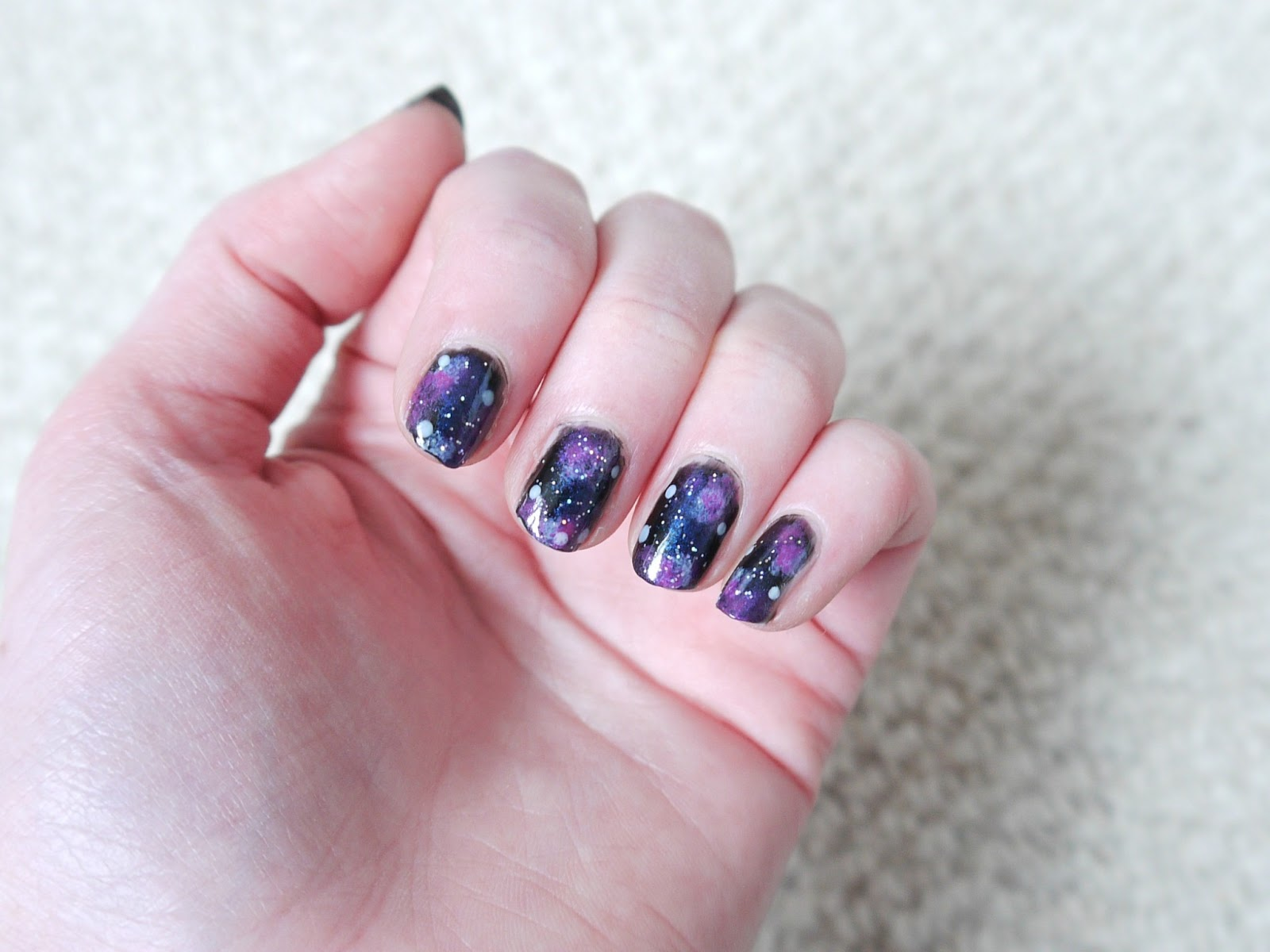 Galaxy Nail Art easy tutorial