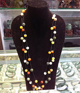 Low end jade jewelry such as beaded chains