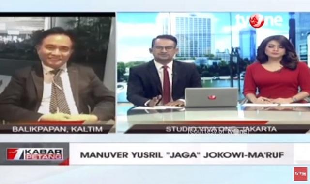 """Blak-Blakan Yusril Ihza Mahendra Soal """"Pengacara Jokowi-Maruf"""" di tvOne"""